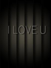 I LOVE U英文字体