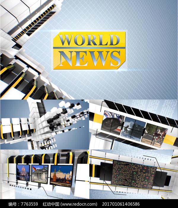 TV广播新闻栏目包装片头图片