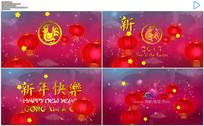 2017红色喜庆灯笼春节片头AE模板