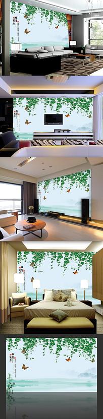 3D电视树藤装饰画背景墙