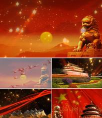 配乐成品我爱你中国舞台背景视频