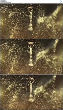 动态粒子背景小金人颁奖视频素材