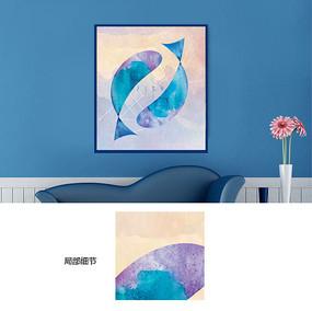 双鱼装饰画设计