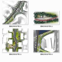 吴江软件园道路空间设计彩色平面