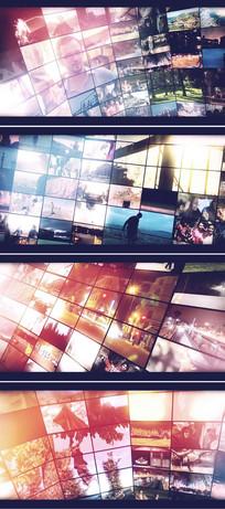 震撼大气led大屏企业员工照片墙ae模板