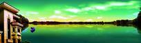 湖水青天碧水底图高清背景图