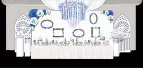 银灰色婚礼效果图