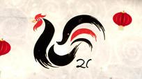 2017鸡年春节新年快乐贺卡视频模版