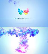 中国风水墨烟雾logo标志演绎ae模板