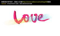 love红色立体字