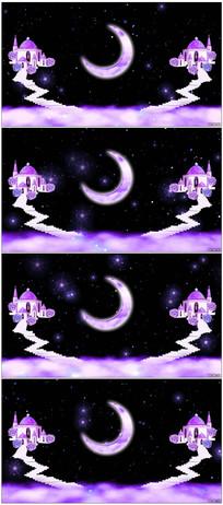 唯美月亮花瓣倒影LED视频