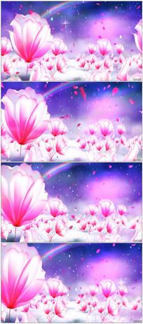紫色花瓣蝴蝶LED舞台背景视频
