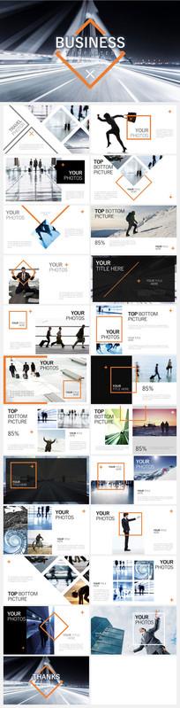 欧美时尚大气画册风格排版商务PPT模板