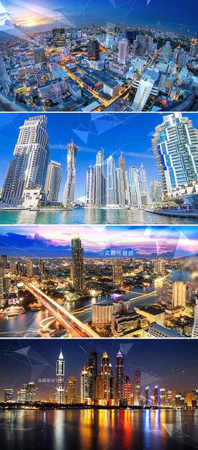 大气科技感城市宣传图文ae模板