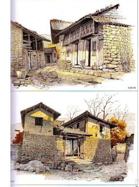 老房子手绘