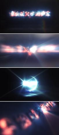 3组震撼大气光线描边logo文字开场片头模板
