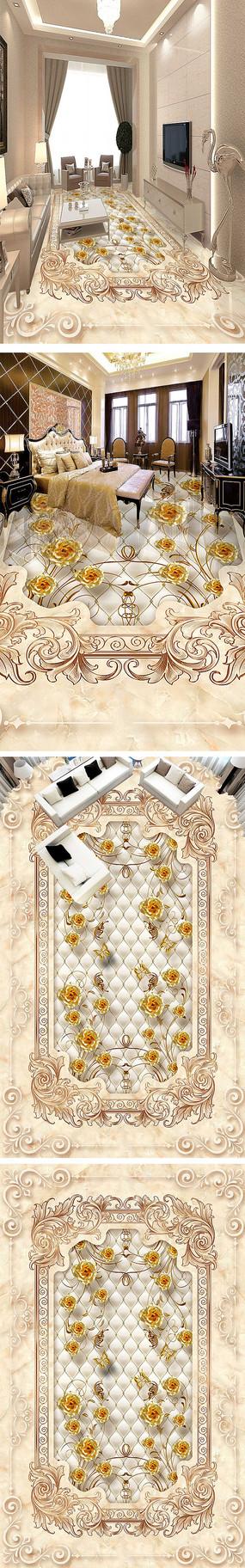 大理石艺术瓷砖拼花地砖地板