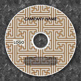 方形纹路棕色纹路cd封面设计