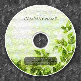 復古樹葉紋理cd封面設計