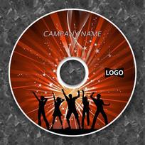 红色酷炫摇滚音乐cd封面设计