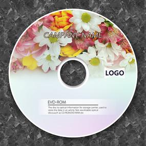 可爱鲜花DVD盘面模板
