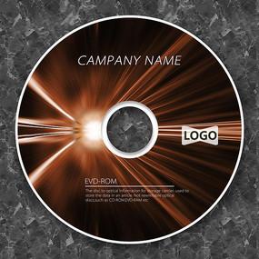 科技光暈棕色線條cd封面設計