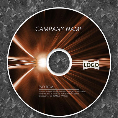 科技光晕棕色线条cd封面设计