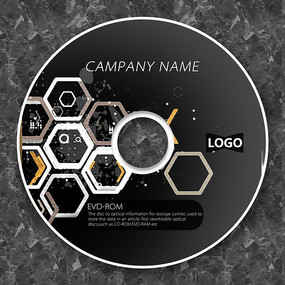 科技六角形未來感cd封面設計