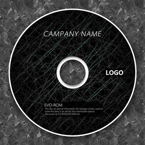 科技蜘蛛絲黑色質感cd封面設計
