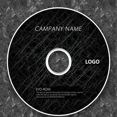 科技蜘蛛丝黑色质感cd封面设计