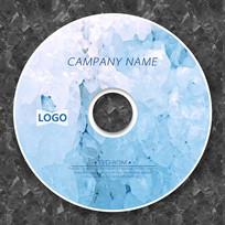 浅蓝色冰裂自然光盘封面