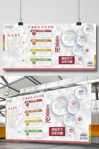 企业效果图公司发展历程文化墙