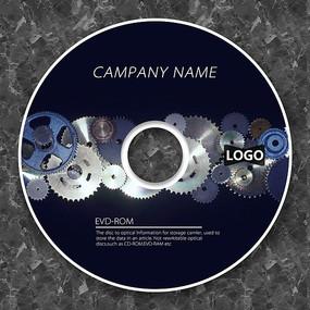 写实齿轮金属质感cd封面设计