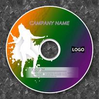 性感舞蹈彩色cd封面设计