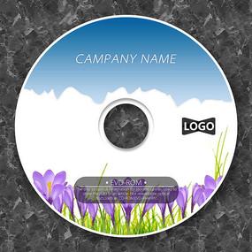 郁金香天空自然cd封面設計