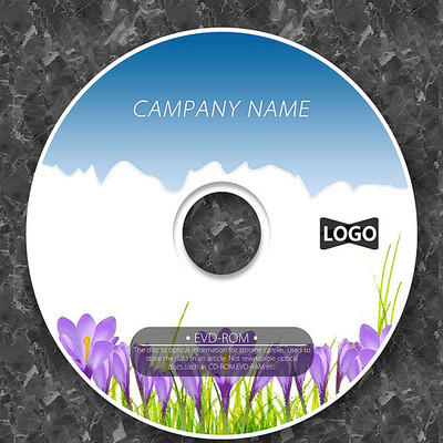 郁金香天空自然cd封面设计