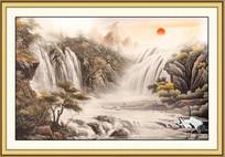 中国风山水画室内装饰画