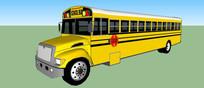 公共汽车草图大师模型
