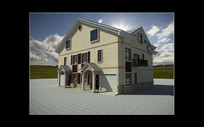 联排别墅(泰国风情)3Dmax模型下载