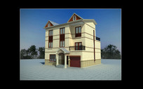泰国风情建筑别墅max模型下载