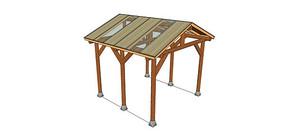 玻璃顶木构架模型