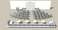 大型会议室休闲座椅家具SU