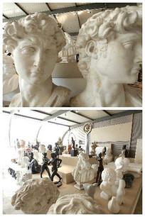 雕像博物馆里面的雕塑视频