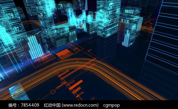 数字城市片头视频素材图片