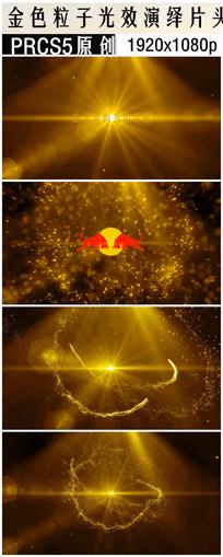 Premiere 金色logo视频片头模板