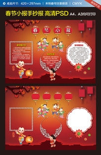 春节电子小报手抄报图片