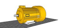 马达3HP工业电机的SKP模型素材