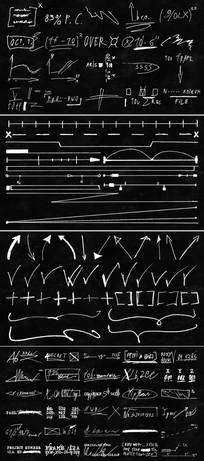 手工绘制效果线条数学草稿视频