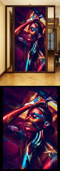 抽象女人油画玄关