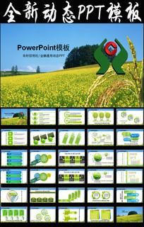 绿色中国风农村信用合作社PPT模板